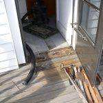 door sill - before